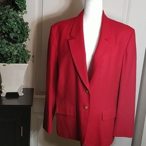 Vintage red Pendleton virgin wool blazer size 16